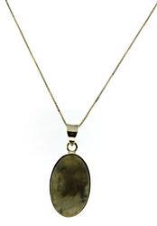 Large Oval Labradorite Necklace