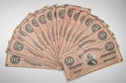 (21) 1864 Confederate States Of America $50 Notes - Consecutive