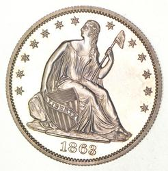 1863 Seated Liberty Half Dollar - Proof