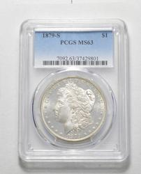 MS63 1879-S Morgan Silver Dollar - Graded PCGS