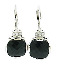 Beautiful Diamond Leverback Earrings
