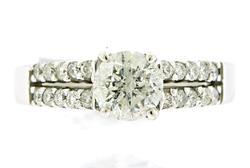 Elegant Double Row Diamond Semi Ring