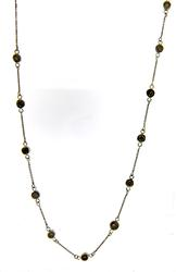 Fabulous Bezel Set Brown Diamond Necklace