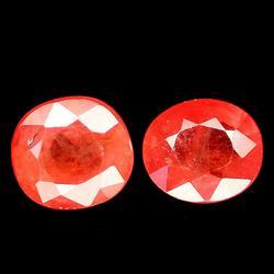 Heated only 2.61ct orange Songean Sapphires