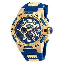 New Mens Invicta Chronograph, Blue Dial