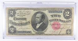 1891 $2 Silver Certificate Large Size Note