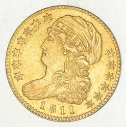 1811 $5.00 Draped Bust To Left Gold Half Eagle