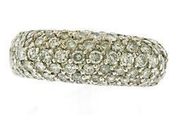 Charming 1ctw Pave Diamond Ring