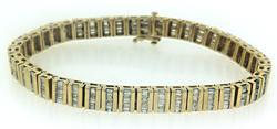 Shinning 7ctw Baguette Diamond Channel Set Bracelet