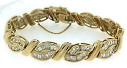 Divine Bagg and RBC Diamond Swirl Link Bracelet