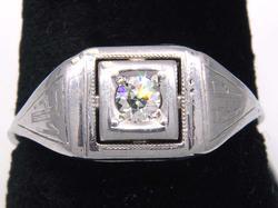 Beautifully Detailed Diamond Filigree Ring