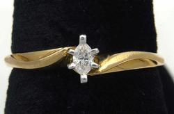 Understated Marquise Diamond Promise Ring