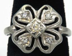 Fun Estate Diamond Shamrock Ring