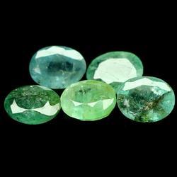 9.40ct 5 piece multi-color Emerald set