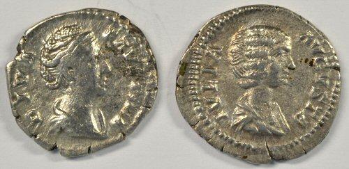 Great Julia Domna & Faustina Roman Silver Denari