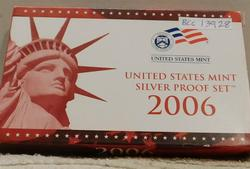 2006 Silver PROOF Set, w/ Mint Box, w/Sil State Qtrs.