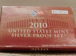 2010 Silver PROOF Set, w/ Mint Box, w/Sil State Qtrs.