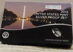 2013 Silver PROOF Set, w/ Mint Box, w/Sil State Qtrs.