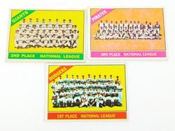 3 Vintage 1966 National League Baseball Team Cards