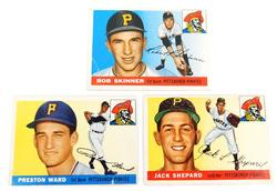 3 Pirates 1955 Topps Baseball Cards