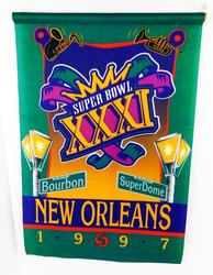 Super Bowl Football Banners, 1997 and 1998