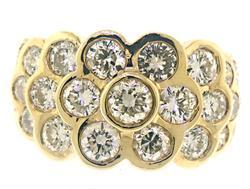 Shocking Multi Bezel Set Diamond Ring