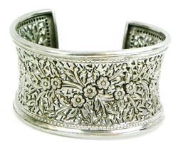 Beautiful Wide Sterling Silver Cuff Bracelet
