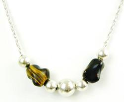Sterling Beads &  Tiger Eye Necklace