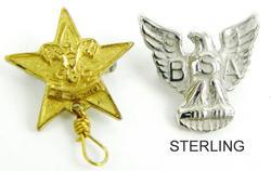 2 Vintage Boy/Girl Scout Pins