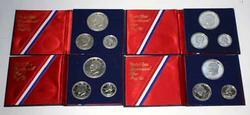 4 1976 S 3 Piece Bicentennial  Silver Proof Sets