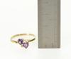 10KT Yellow Gold Amethyst Ring