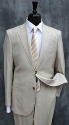 Cream White Color Suit For All Occasions, Made In Italy