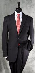 Phenomenal 2-Button Navy Stripe Suit, Made In Italy