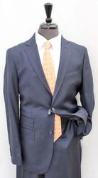 Hand Some Navy Color Italian Made Slim Fit Suit