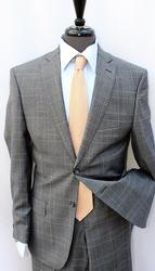 Phenomenal 2-Button Plait Suit, Made In Italy