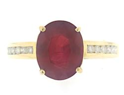 Amazing Lead Treated Ruby and Diamond Ring