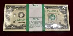 CU Pack of 2013 $2 Notes, L Block