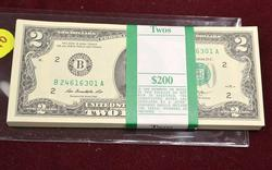 CU Pack of 2013 $2 Notes, B Block