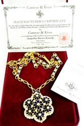 Jackie Kennedy Camrose & Kross Necklace, MIB