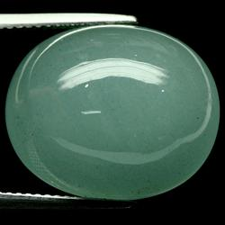 Glistening 21.98ct natural Aquamarine cabochon