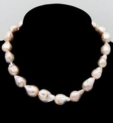Baroque Pearl Sterling Necklace