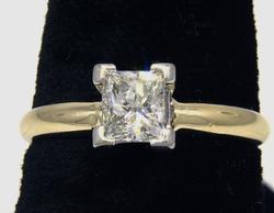 Flashy .52 CT Princess Diamond Ring, VS, G