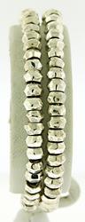 Sterling Silver Double Row Bead Bracelet
