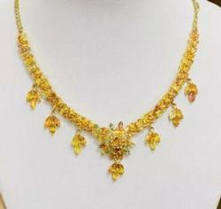 Amazing 17 Carat Sapphire Necklace, 14kt Gold