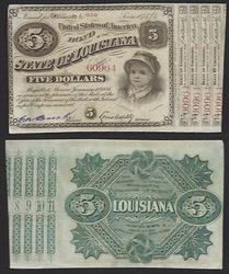 $5 Baby Bond State of Louisiana Uncirculated