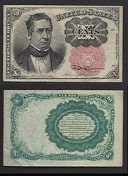 Meredith Fifth Issue 10 Cent fractional