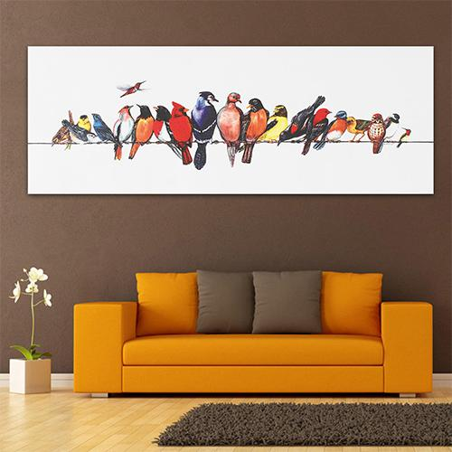 Colorful Birds Stretched Canvas Prints Wall Paintings