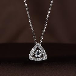 Swarovski Crystal & Sterling Silver Pave Necklace