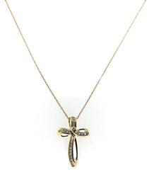 Pretty Diamond Cross Pendant Necklace