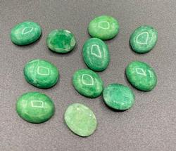 Very Appealing Set of Green Beryl Gemstones